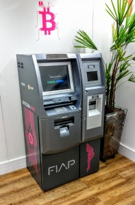 Primeiro caixa automático (ATM) de Bitcoin no Brasil, localizado na FIAP da Av. Paulista.